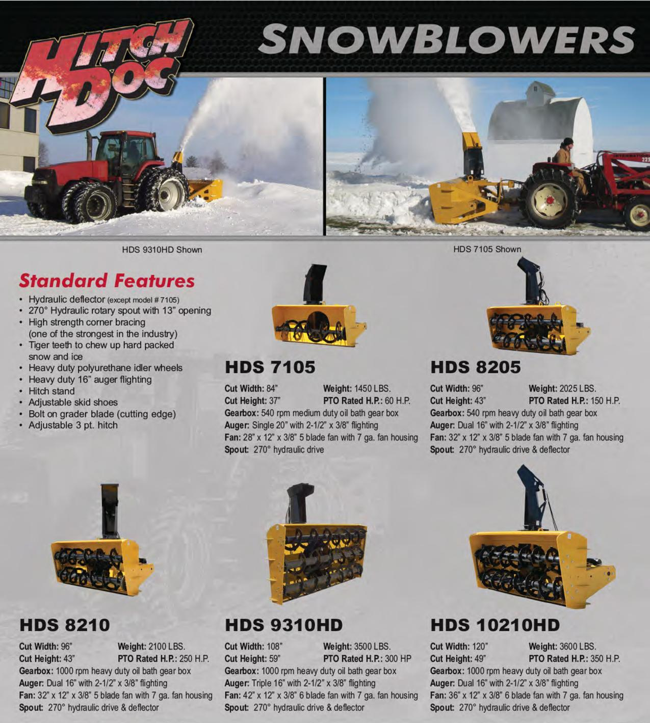 HitchDoc Snow Blowers | Sieker Sales, LLC